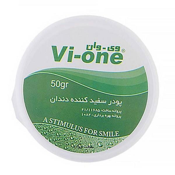 پودر سفید کننده دندان وی وان مدل Mint وزن 50 گرم مجموعه 4 عددی
