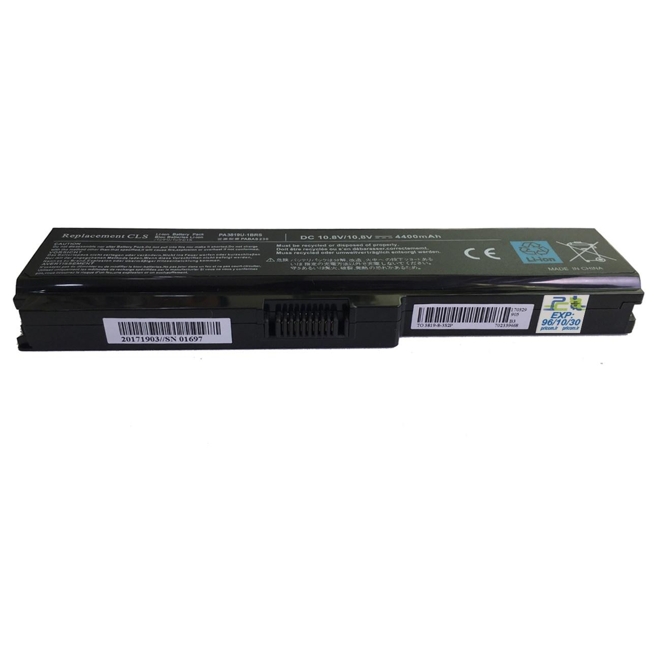 بررسی و {خرید با تخفیف} باتری لپ تاپ 6 سلولی مناسب برای لپ تاپ توشیبا 3819 غیر اصلاصل