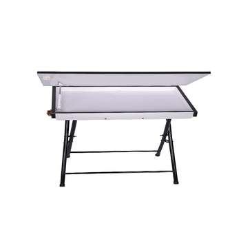 میز تحریر تاشو  و تنظیم شو یاس سفید تک باکس دار