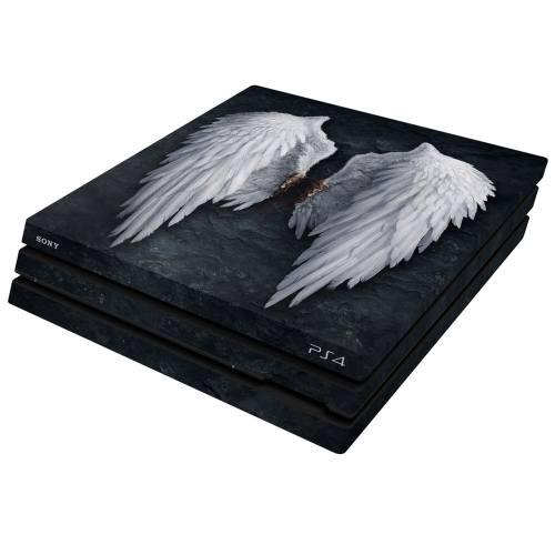 برچسب افقی پلی استیشن 4 پرو ونسونی طرح Angel Wings