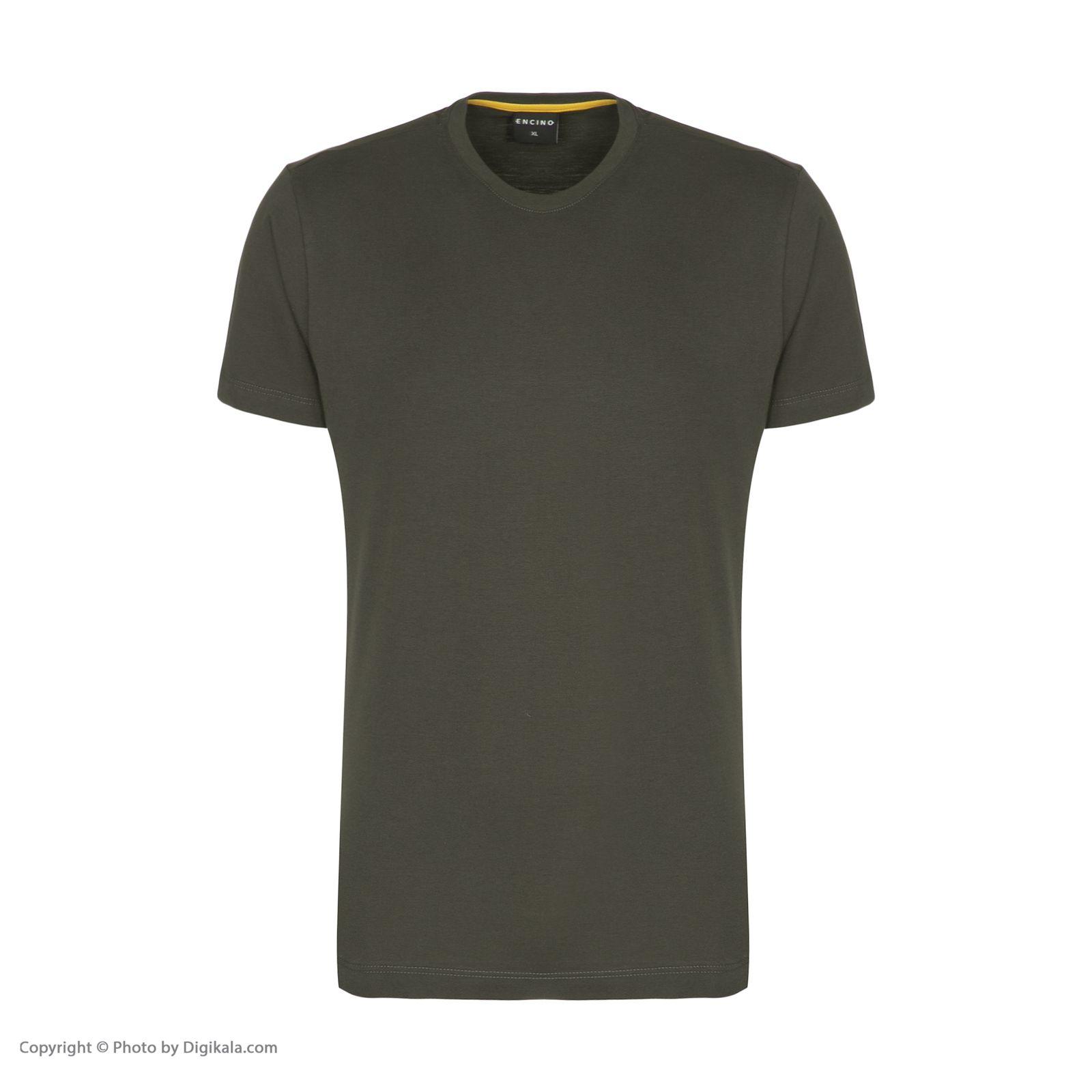 تیشرت آستین کوتاه مردانه ان سی نو مدل بیتر رنگ سبز ارتشی -  - 2