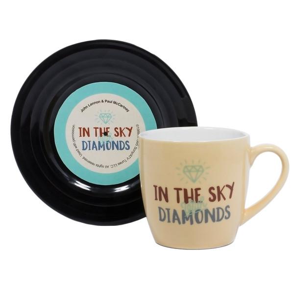 ماگ تامبز آپ سری ال اند ام مدل Diamonds به همراه نعلبکی