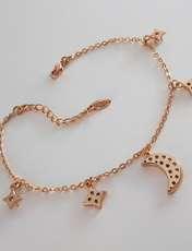 دستبند زنانه ژوپینگ طرح ماه و ستاره کد XP239 -  - 3