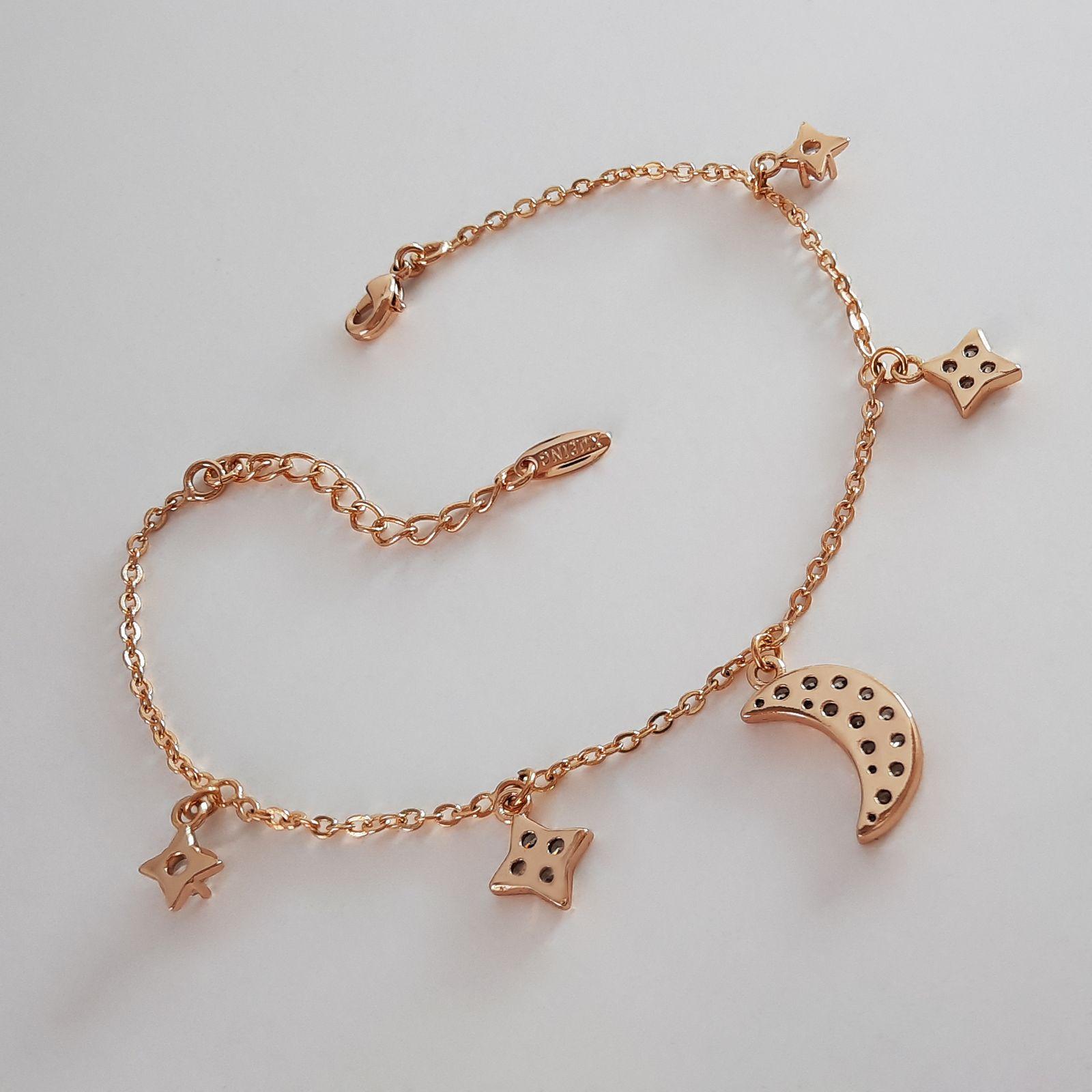 دستبند زنانه ژوپینگ طرح ماه و ستاره کد XP239 -  - 4
