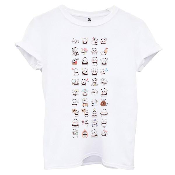 تی شرت آستین کوتاه زنانه اسد طرح پاندا کد 98
