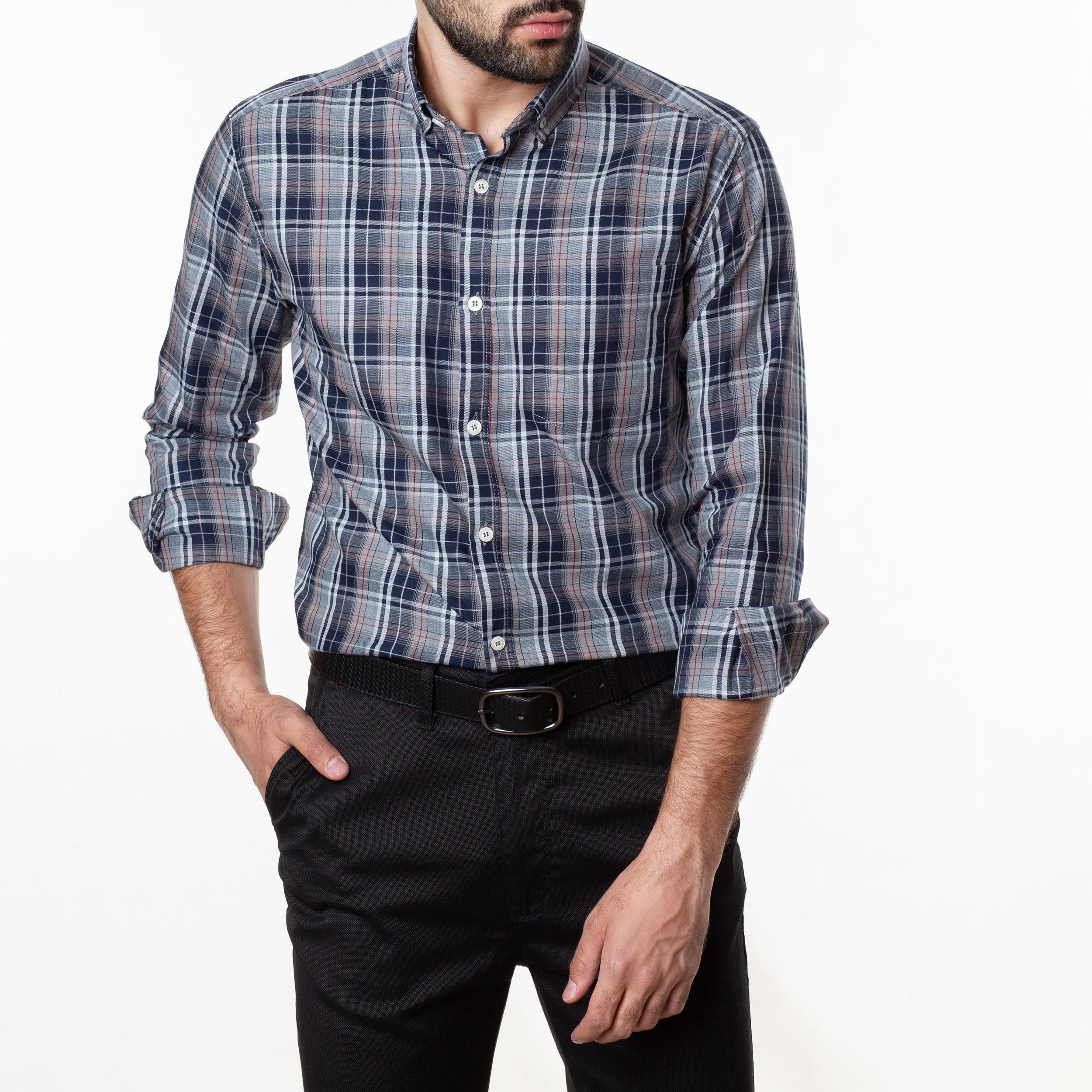 پیراهن آستین بلند مردانه زی سا مدل 1531374MC