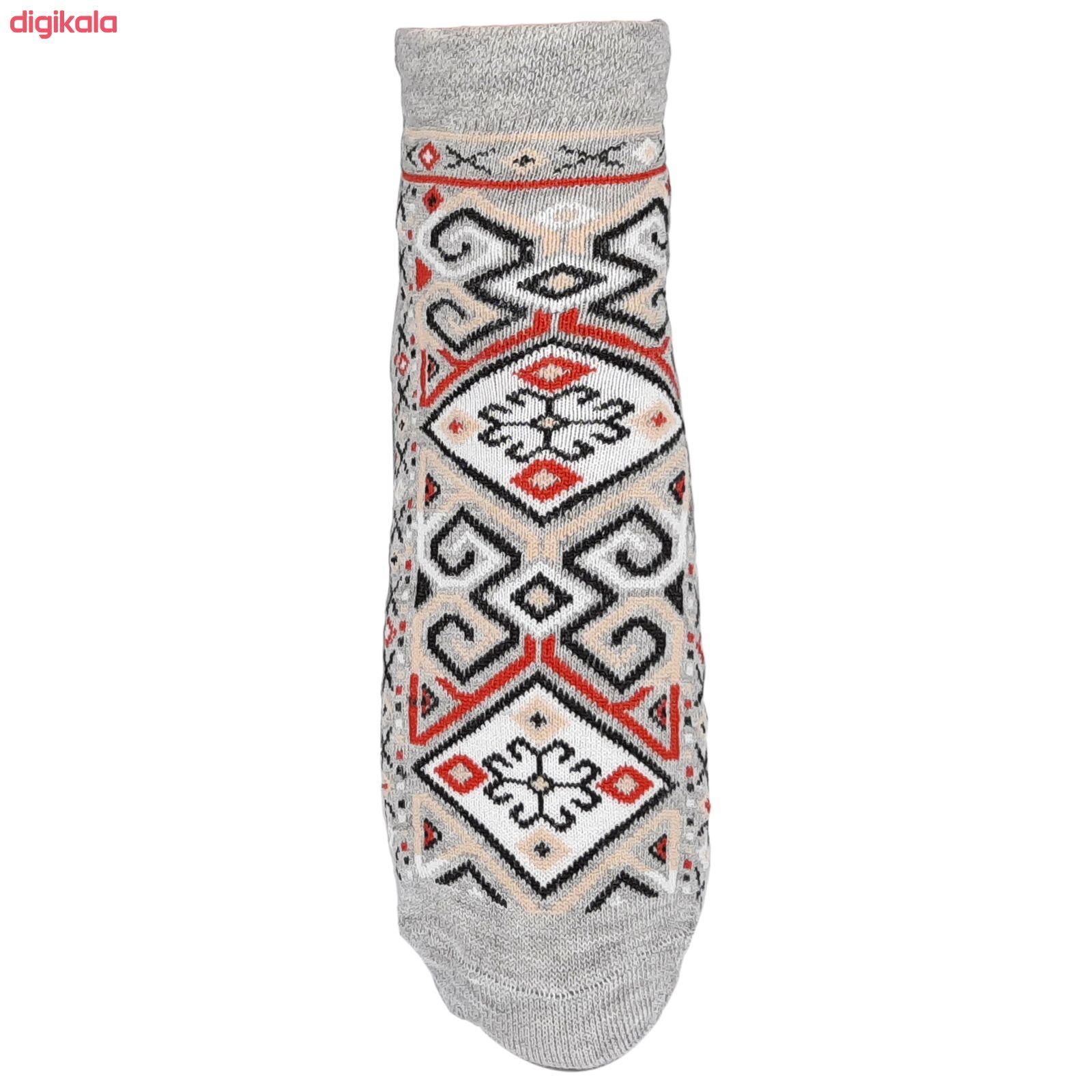 جوراب زنانه طرح سنتی کد JZ-02 مجموعه 4 عددی main 1 2