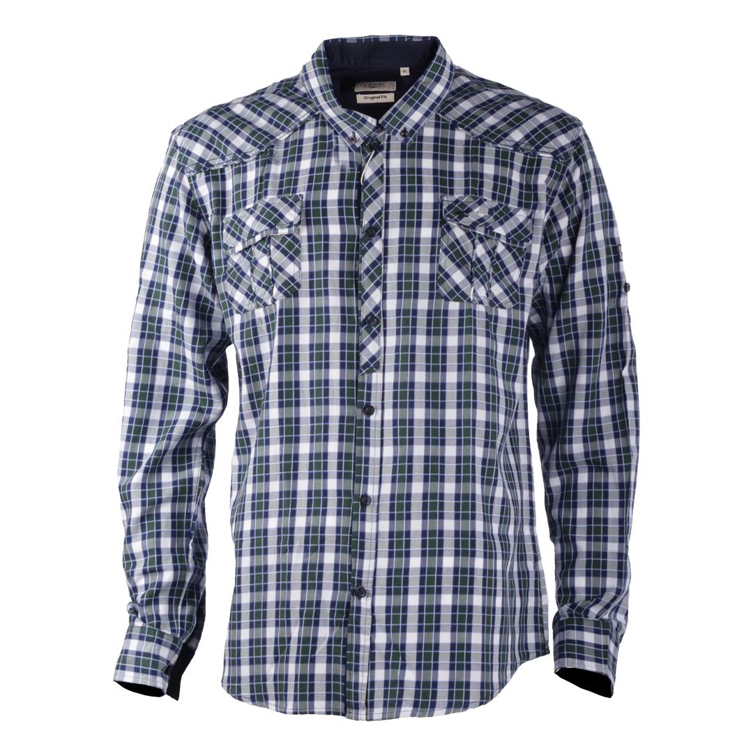 پیراهن آستین بلند مردانه کمل مدل 3MNS-2019-011
