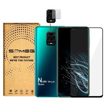 محافظ صفحه نمایش سومگ مدل SMG-Dual مناسب برای گوشی موبایل شیائومی Redmi Note 9S / Redmi Note 9 Pro به همراه محافظ لنز دوربین