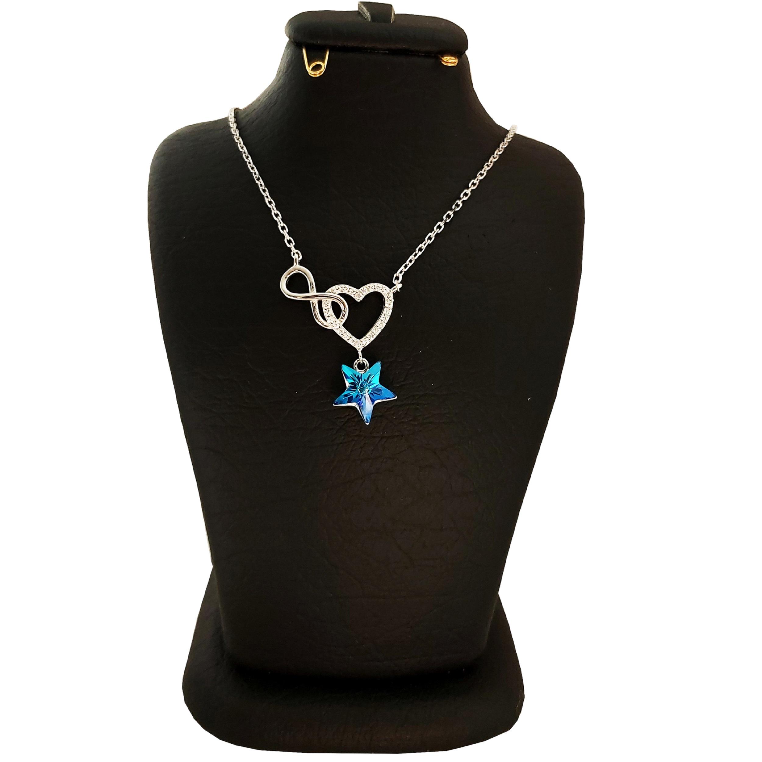 خرید                                      گردنبند نقره زنانه سواروسکی مدل ستاره عشق بی نهایت کد NB