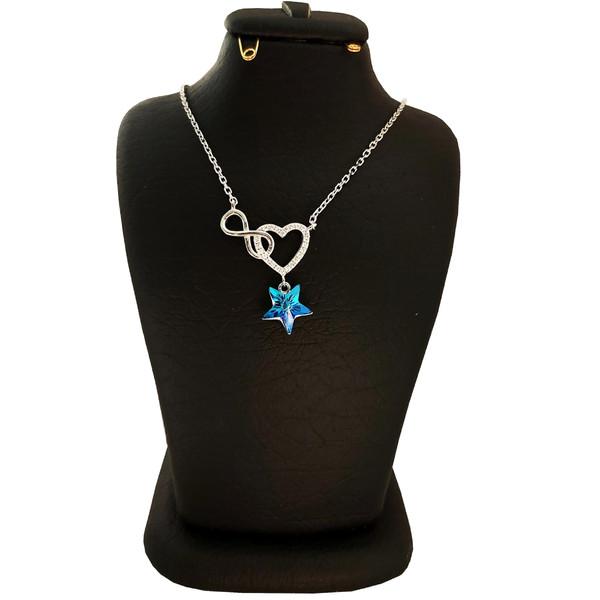گردنبند نقره زنانه سواروسکی مدل ستاره عشق بی نهایت کد NB