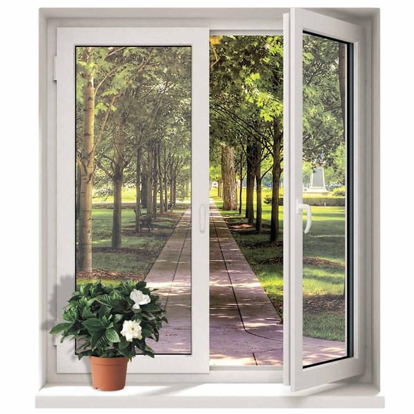 استیکر سه بعدی ژیوار طرح پنجره و باغ