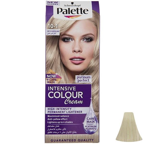 کیت رنگ موی پلت سری Intensive مدل Arctic Silver Blonde شماره 1-10