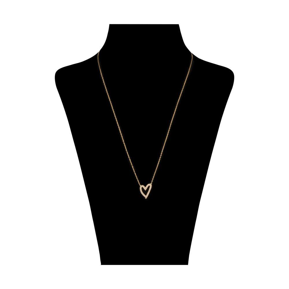 گردنبند طلا 18 عیار زنانه سنجاق مدل X082154