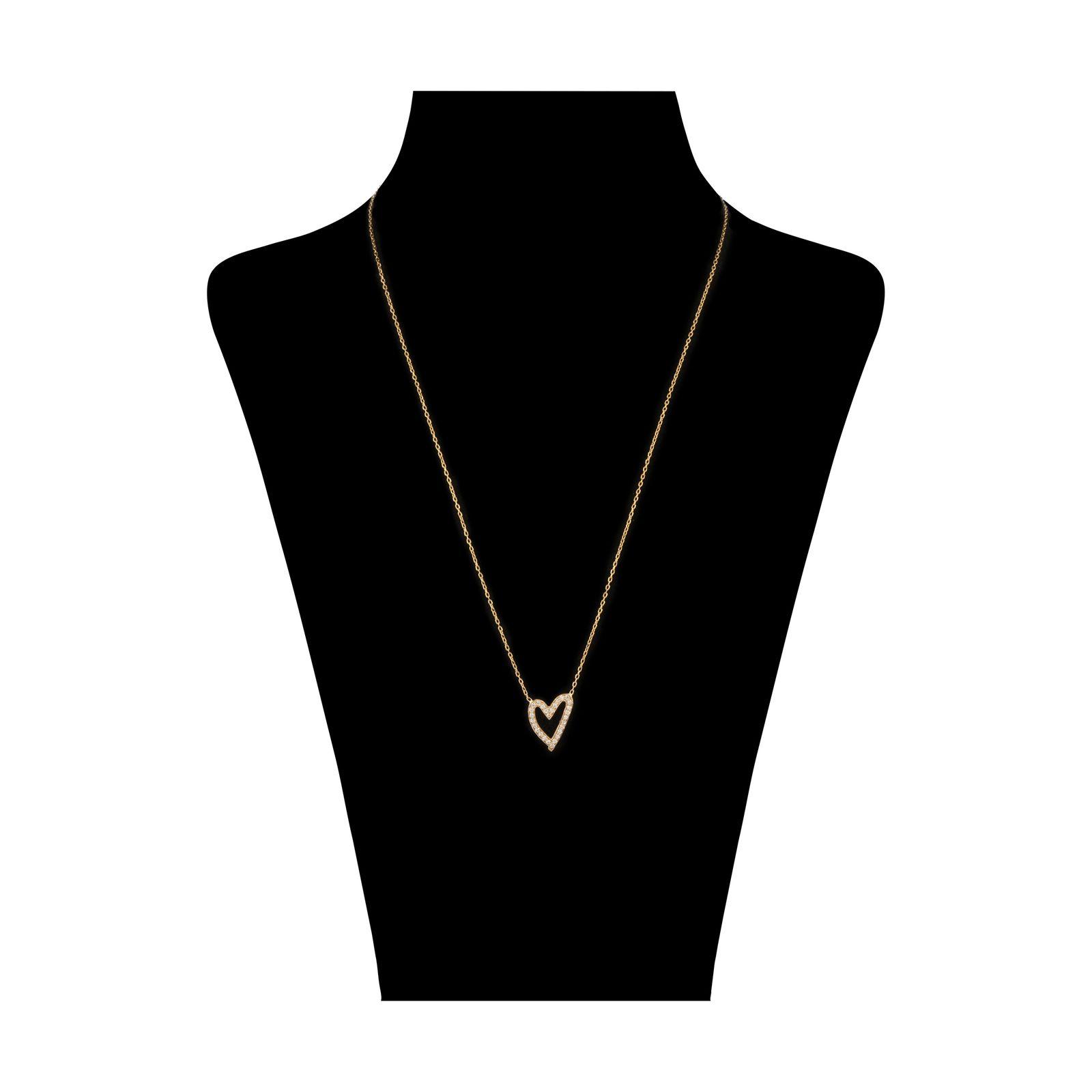 گردنبند طلا 18 عیار زنانه سنجاق مدل X082154 -  - 2