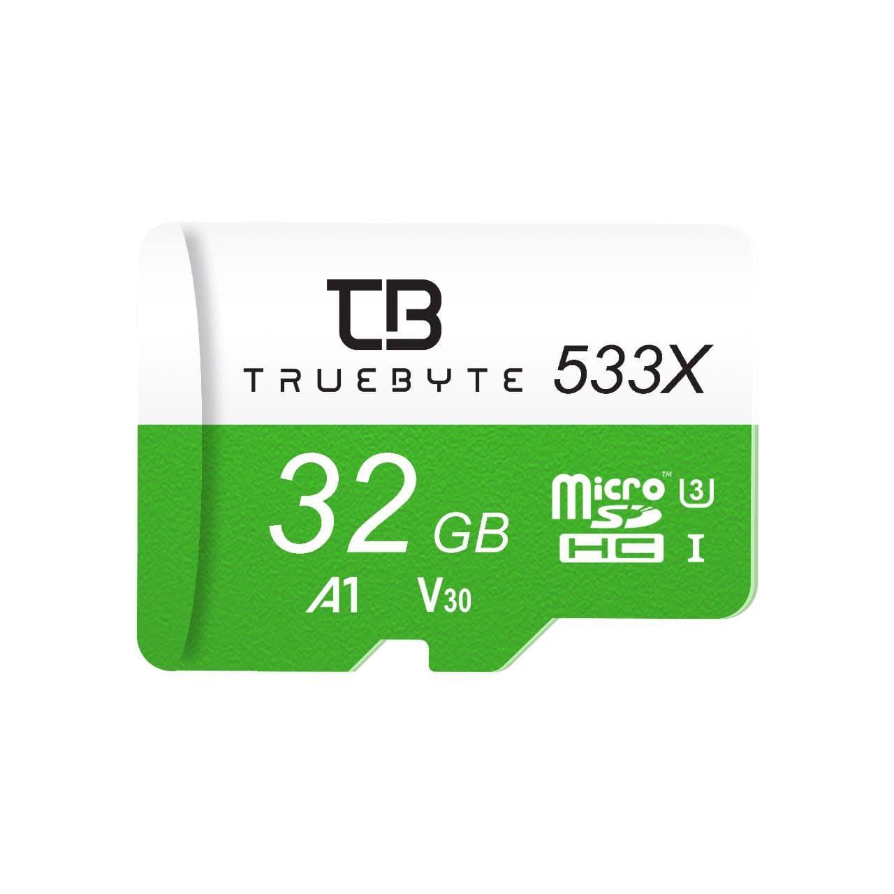 کارت حافظه microSD HC تروبایت مدل 533X-A1-V30 کلاس 10 استاندارد UHS-I U3 سرعت 85MBps ظرفیت 32 گیگابایت