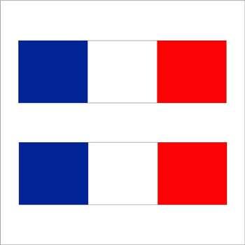 برچسب پارکابی خودرو طرح پرچم فرانسه کد FE1 بسته 2 عددی
