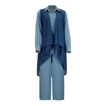 ست 3 تکه لباس زنانه السانا مدل روژیار کد 82822
