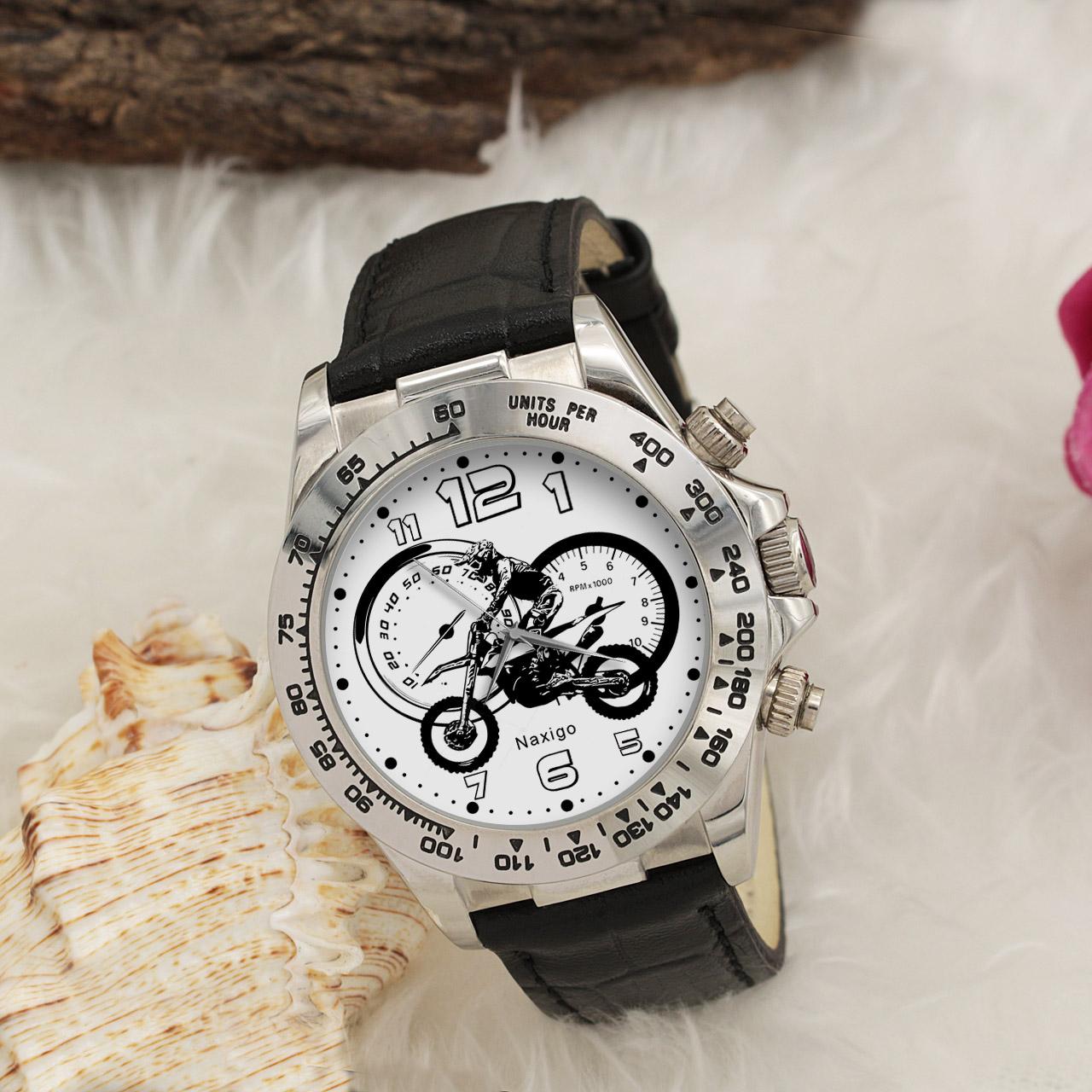 ساعت مچی  مردانه ناکسیگو طرح موتورسوار کد LS3557