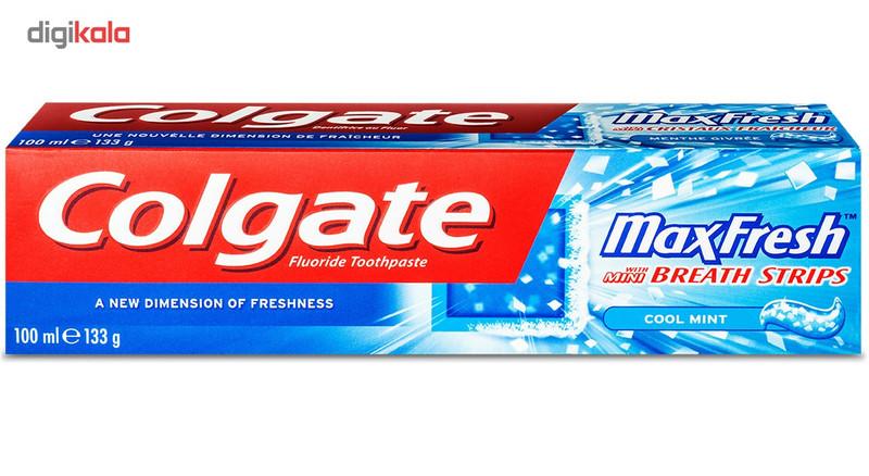 خمیر دندان خنک کننده کلگیت سری Max Fresh حجم 100 میلی لیتر