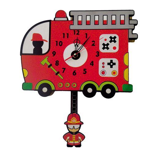 ساعت دیواری کودک جیک جیک مدل آتش نشانی