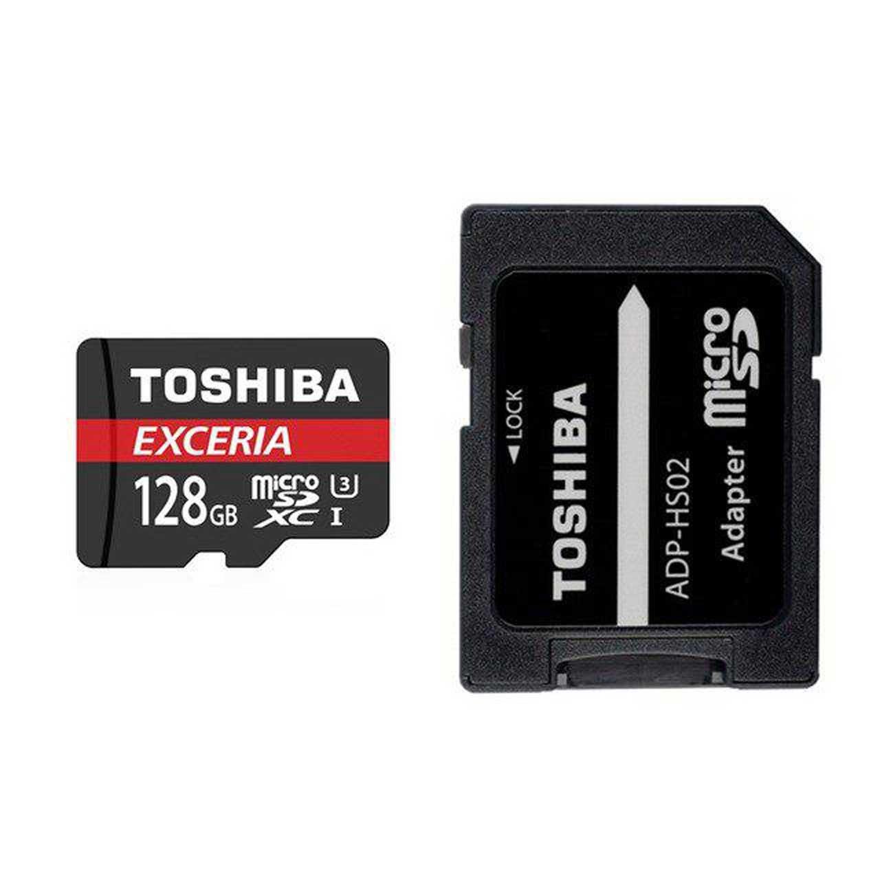 کارت حافظه MicroSDXC توشیبا مدل Exceria M302 کلاس 10 استاندارد UHS-I U3 سرعت 90MBps ظرفیت 128GB