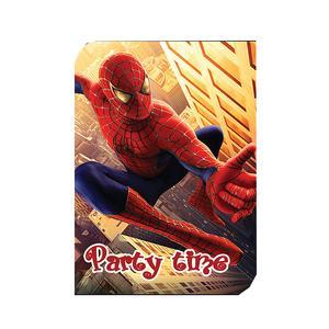 کارت دعوت مدل مرد عنکبوتی بسته 10 عددی