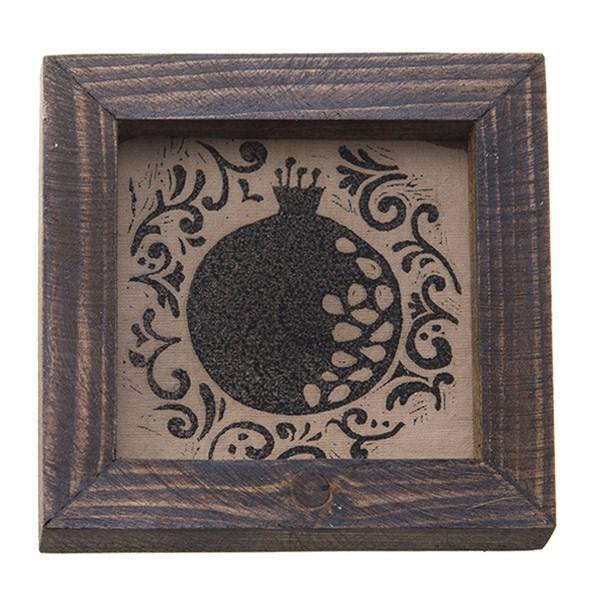 تابلو چوبی چاپ دستی روی پارچه گالری هور نقش 20
