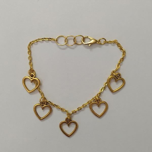 دستبند زنانه مدل قلب کد HN1626