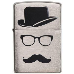 فندک زیپو مدل Mustache and Hat کد 28648