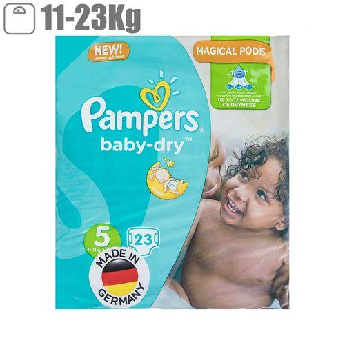 پوشک پمپرز مدل Baby Dry سایز 5 بسته 23 عددی