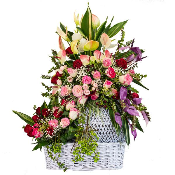 سبد گل طبیعی مدل افسانه