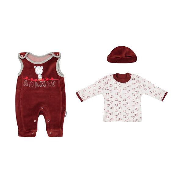 ست 3 تکه لباس نوزادی آدمک مدل 2171144-70
