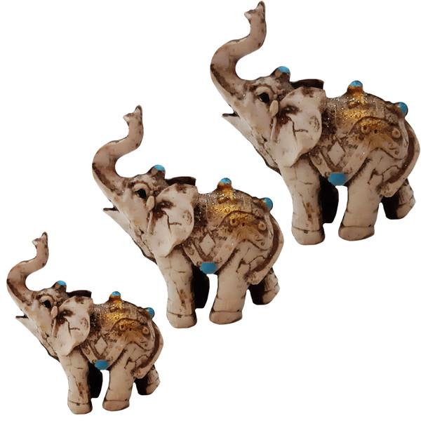 مجسمه طرح فیل کد 600 مجموعه 3 عددی