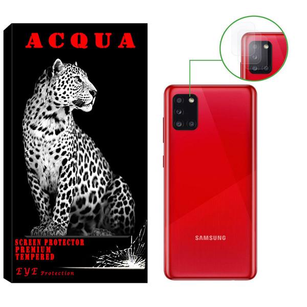 محافظ لنز دوربین آکوا مدل LN مناسب برای گوشی موبایل سامسونگ  Galaxy A31 بسته 3 عددی