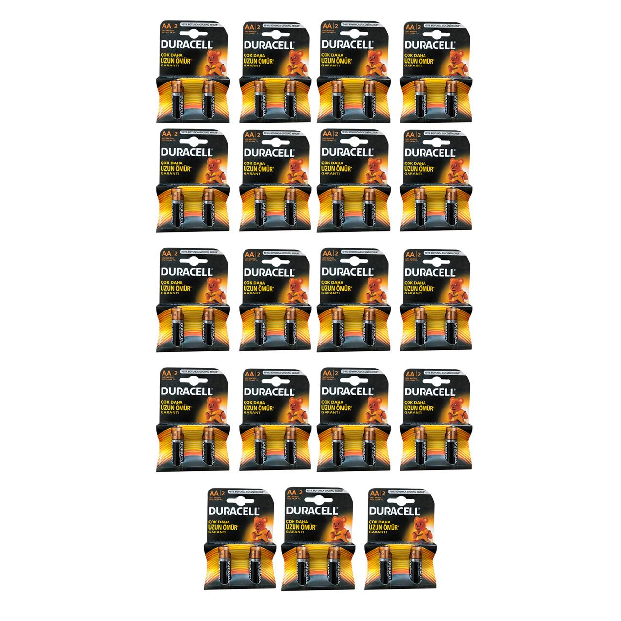 بررسی و {خرید با تخفیف} باتری قلمی دوراسل مدل SH-782 بسته 38 عددی اصل