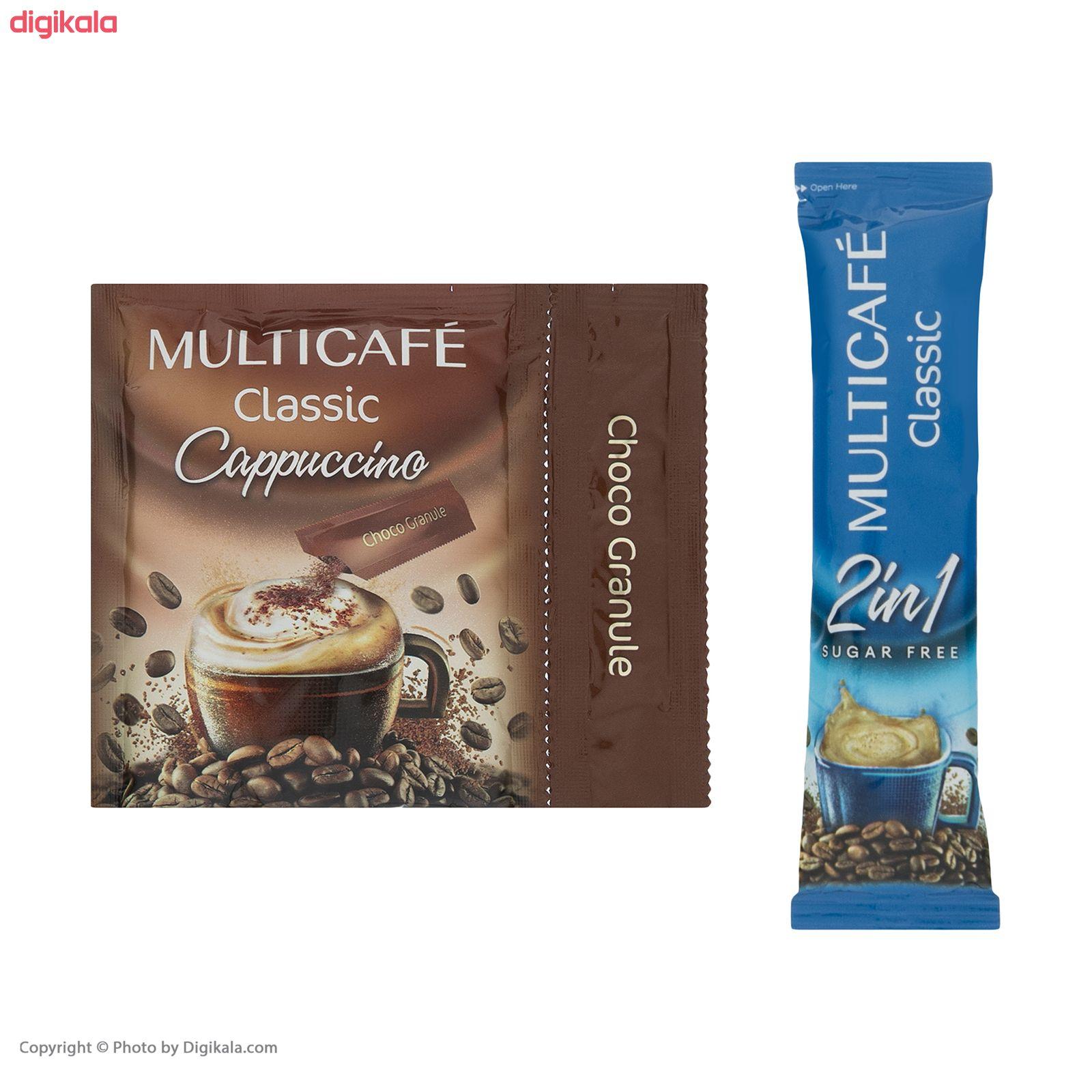 پودر قهوه فوری مخلوط کلاسیک مولتی کافه  - 18 گرم بسته 24 عددی main 1 3
