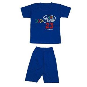 ست تی شرت و شلوارک دخترانه کد 4444BL