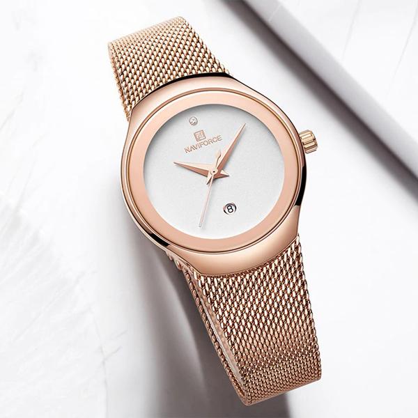 ساعت مچی عقربه ای زنانه نیوی فورس مدل NF5004 RGW              خرید (⭐️⭐️⭐️)