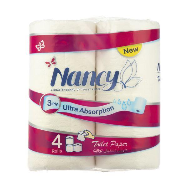دستمال توالت نانسی بسته 4 عددی