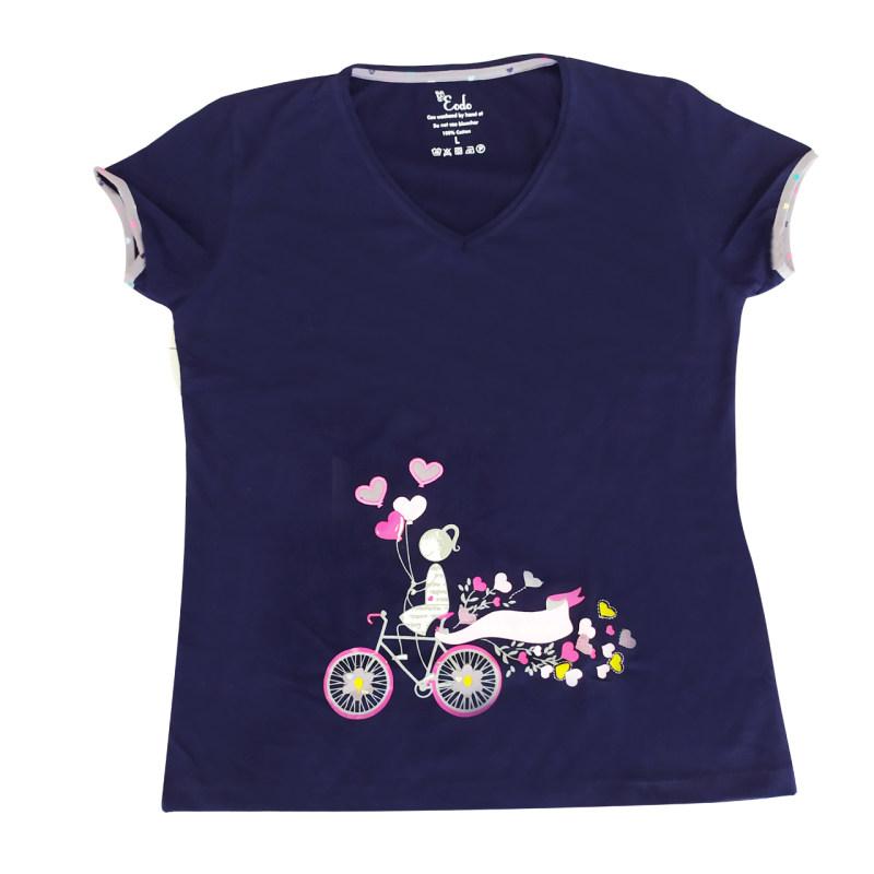 ست تی شرت و شلوار زنانه طرح قلب کد 11