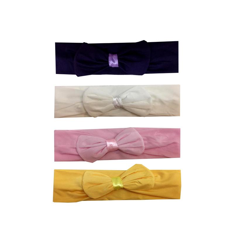 هدبند نوزادی مدل پونه مجموعه 4 عددی