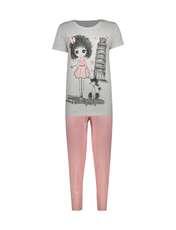 ست تی شرت و شلوار زنانه فمیلی ور طرح دخترکد 0224 -  - 1