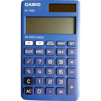 ماشین حساب کاسیو مدل NJ-120D