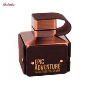 ادو تویلت مردانه امپر مدل اپیک ادونچر حجم 100 میلی لیتر  Emper Epic Adventure Eau De Toilette For