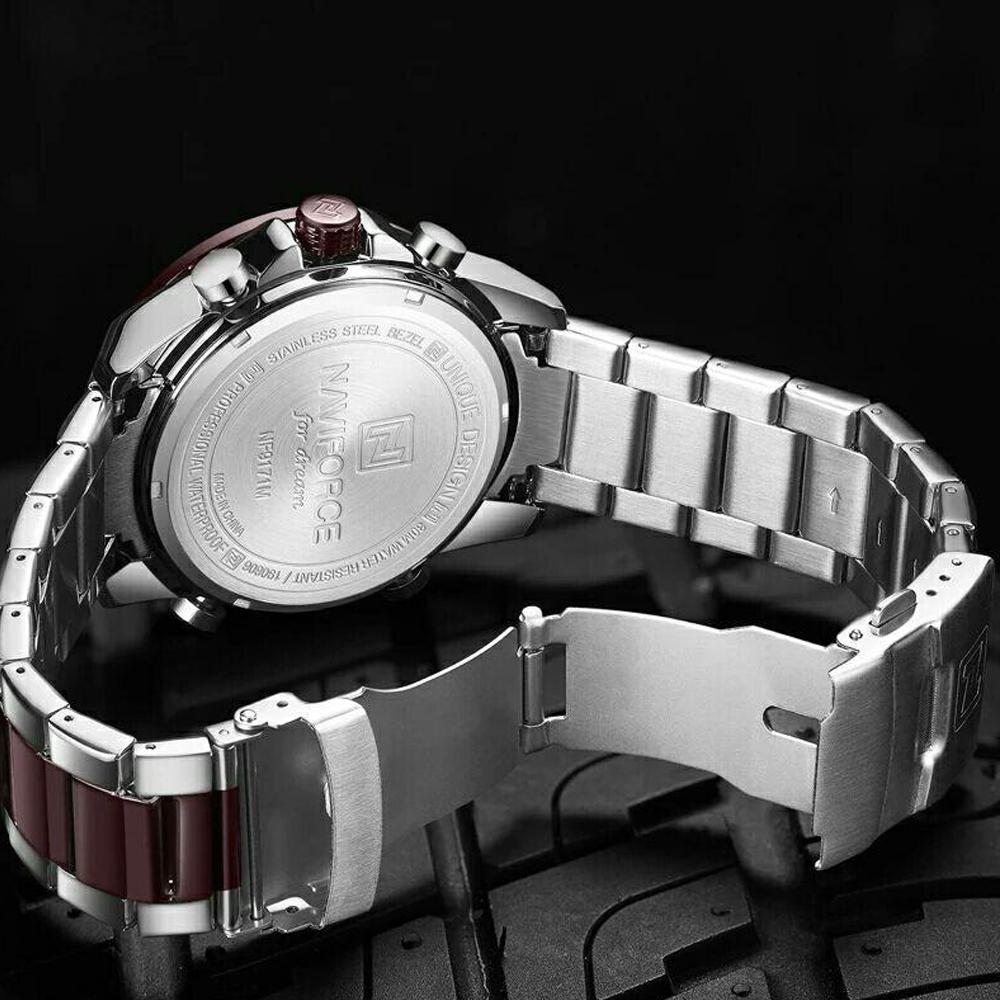 ساعت مچی عقربهای مردانه نیوی فورس مدل NF9171-S-CE-CE