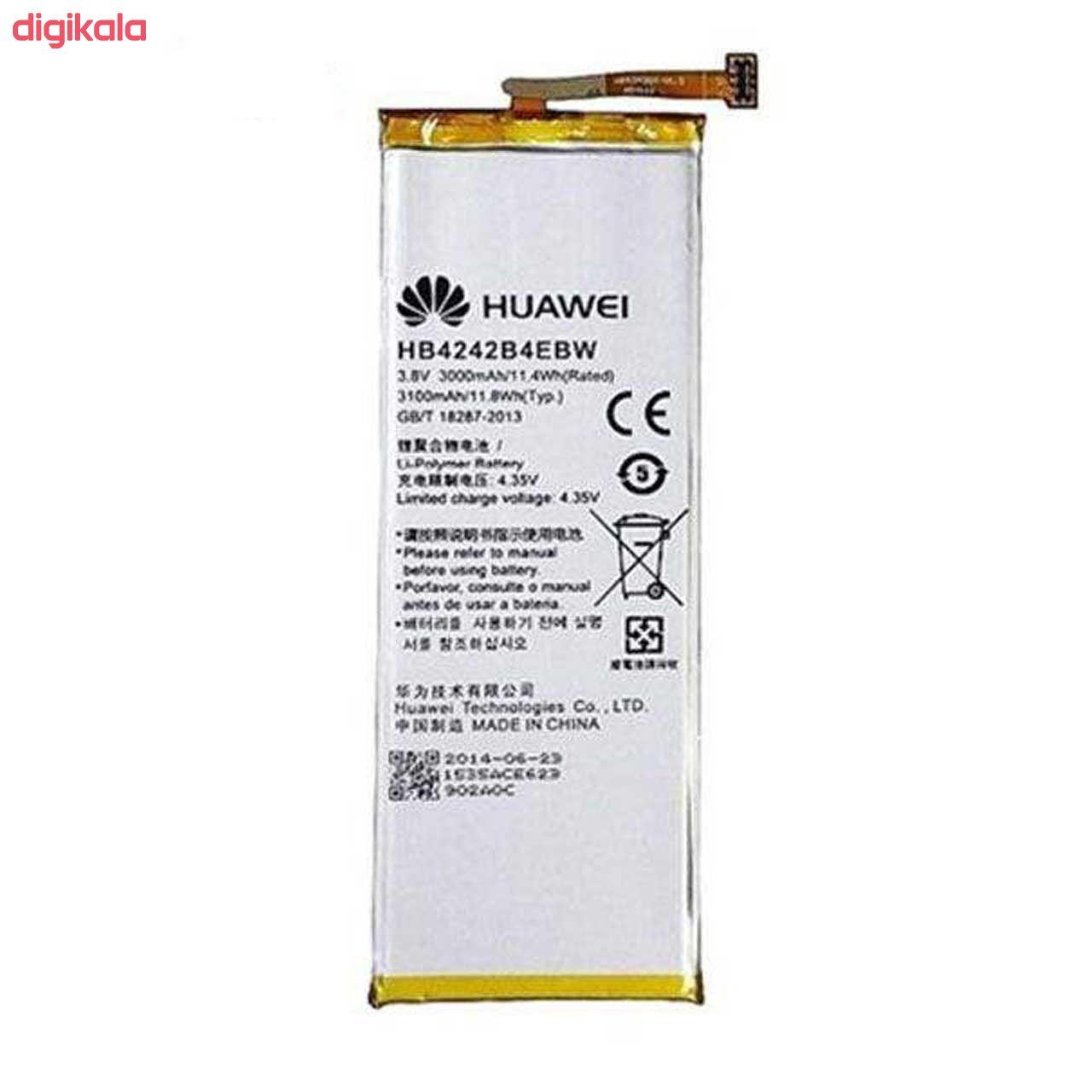 باتری موبایل مدل HB4242B4EBW ظرفیت 3000 میلی امپر ساعت مناسب برای گوشی موبایل آنر 4X main 1 1