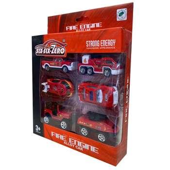 ماشین بازی مدل آتش نشانی کد 125 مجموعه 6 عددی