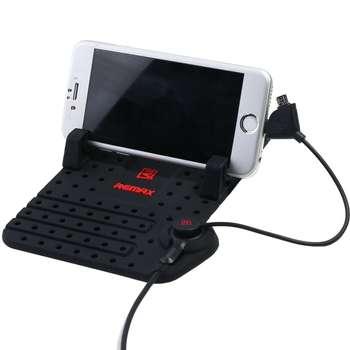 پایه نگهدارنده گوشی موبایل ریمکس مدل Car Mount With Magnetic Charging Cable