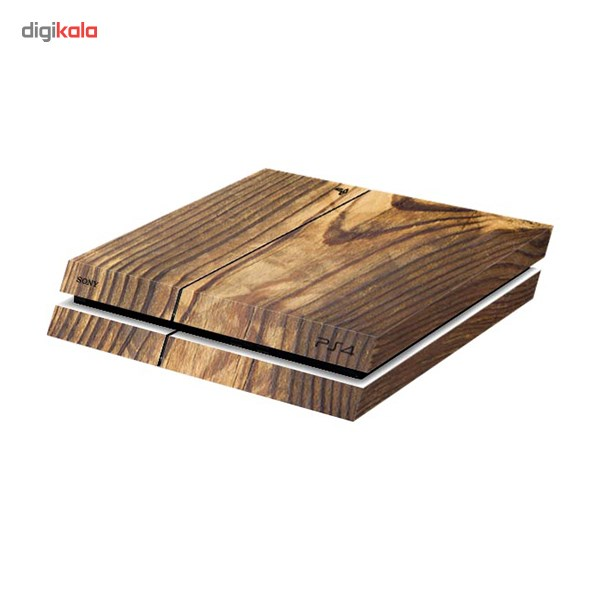 برچسب افقی پلی استیشن 4 ونسونی طرح چوبی